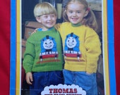 Vintage 1980s, 1990s Thomas The Tank Engine and Friends Knitting Pattern. Children's Jumpers, Sweaters. Kids Book, TV Show.