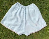 Vintage 1940s, 1950s pale blue nylon silky French Knickers, Tap Pants from Maid of Kent Lingerie