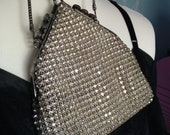 Vintage Antique 1920s Art Deco Evening Bag, Sparkly Diamante Stones