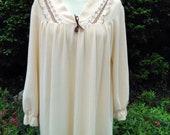 Vintage 1970s long beige ...