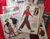 Collection of 10 Vintage 1980s, 1990s Sewing Patterns for Women and Children, Dress Making, Craft.
