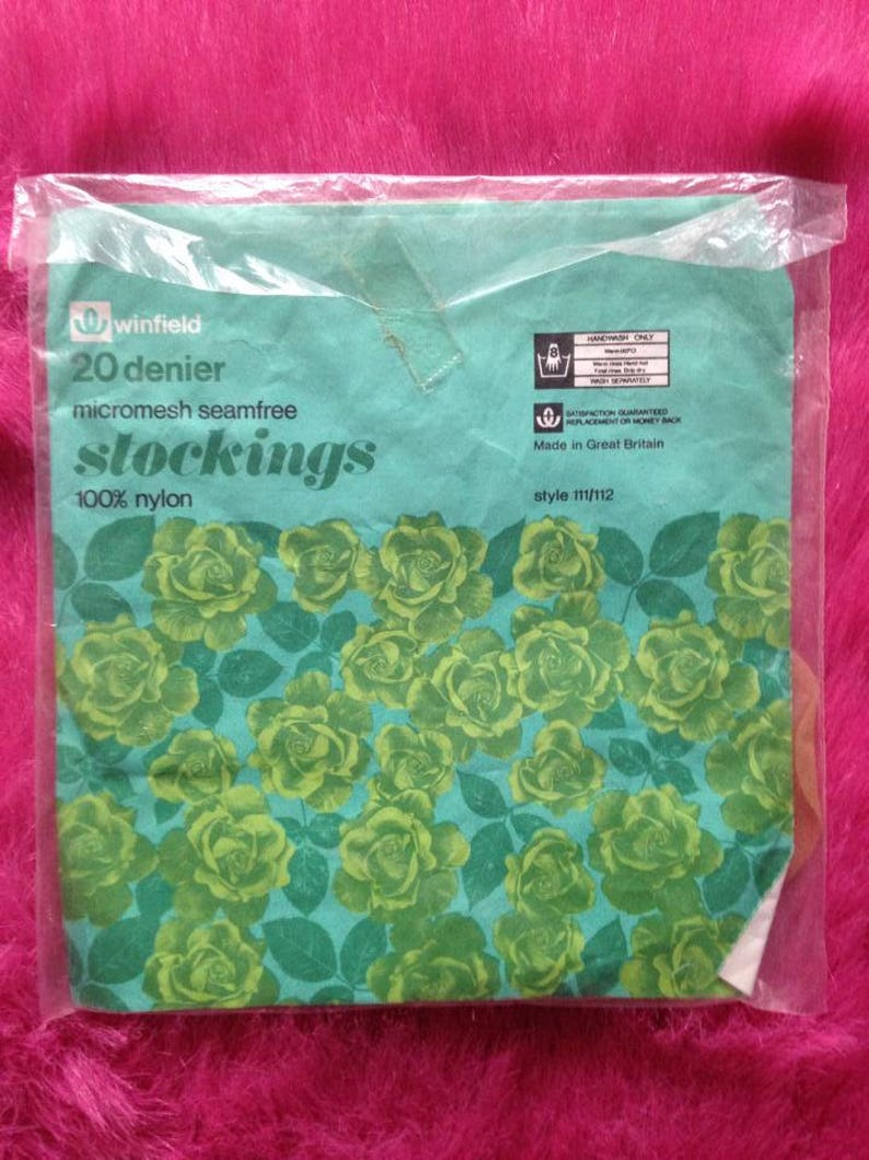 Vintage 1970s Winfield Stockings Nylons. Lingerie Hosiery image 0