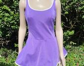 Vintage 1960s, 1970s Purple One Piece Swim Suit, Bathing Costume, Beach Wear, Summer Holiday, Sports. St Michael