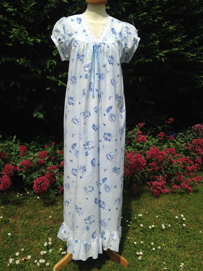 Vintage 1950s 1960s handmade cotton nightie nightgown night image 0