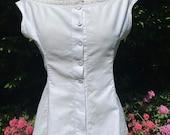 Vintage, Antique, Victorian, Edwardian White Cotton Corset Cover, Camisole, Undergarment, Lingerie