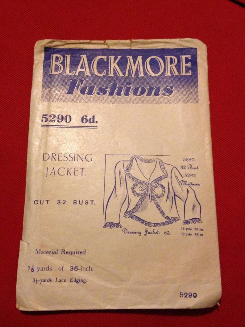 Vintage 1930s Blackmore Fashions Sewing Pattern for Dressing image 0