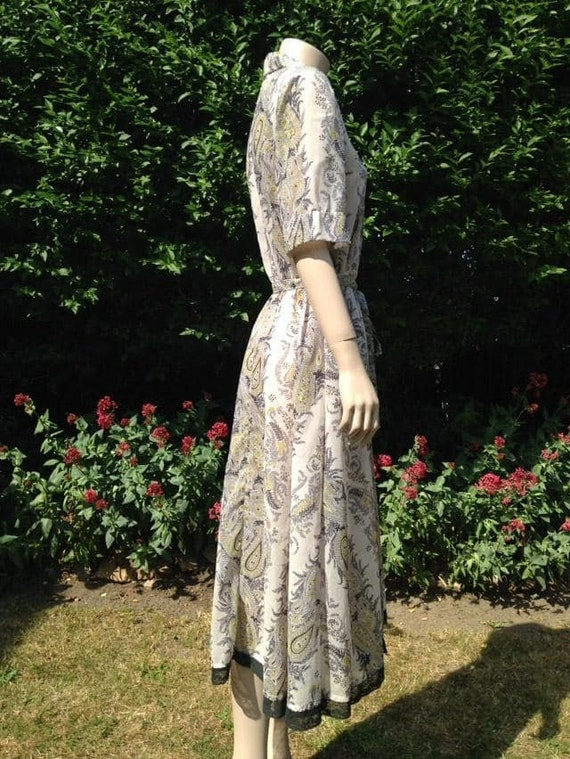 Vintage 1950s Seersucker House Dress, Selfridge's… - image 9