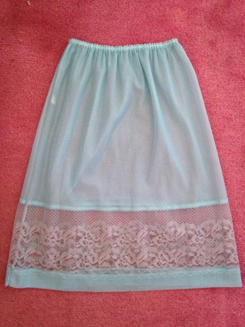 Vintage 1960s 1970s Midi Waist Slip Half Slip Petticoat. image 0
