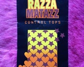 Vintage 1970s, 1980s Razza Matazz Control Tops Tights, Pantyhose. Nylons, Hosiery, Lingerie, Fuller Figure. X-Large, Black.