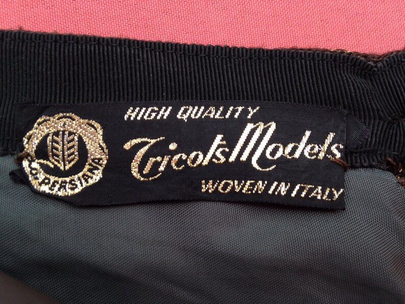 Vintage 1950s Italian gold lurex pencil skirt wiggle skirt. image 0
