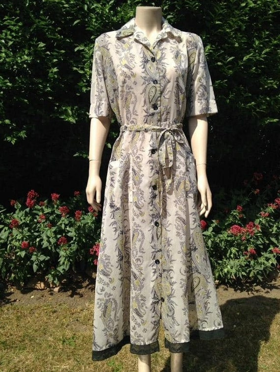 Vintage 1950s Seersucker House Dress, Selfridge's.
