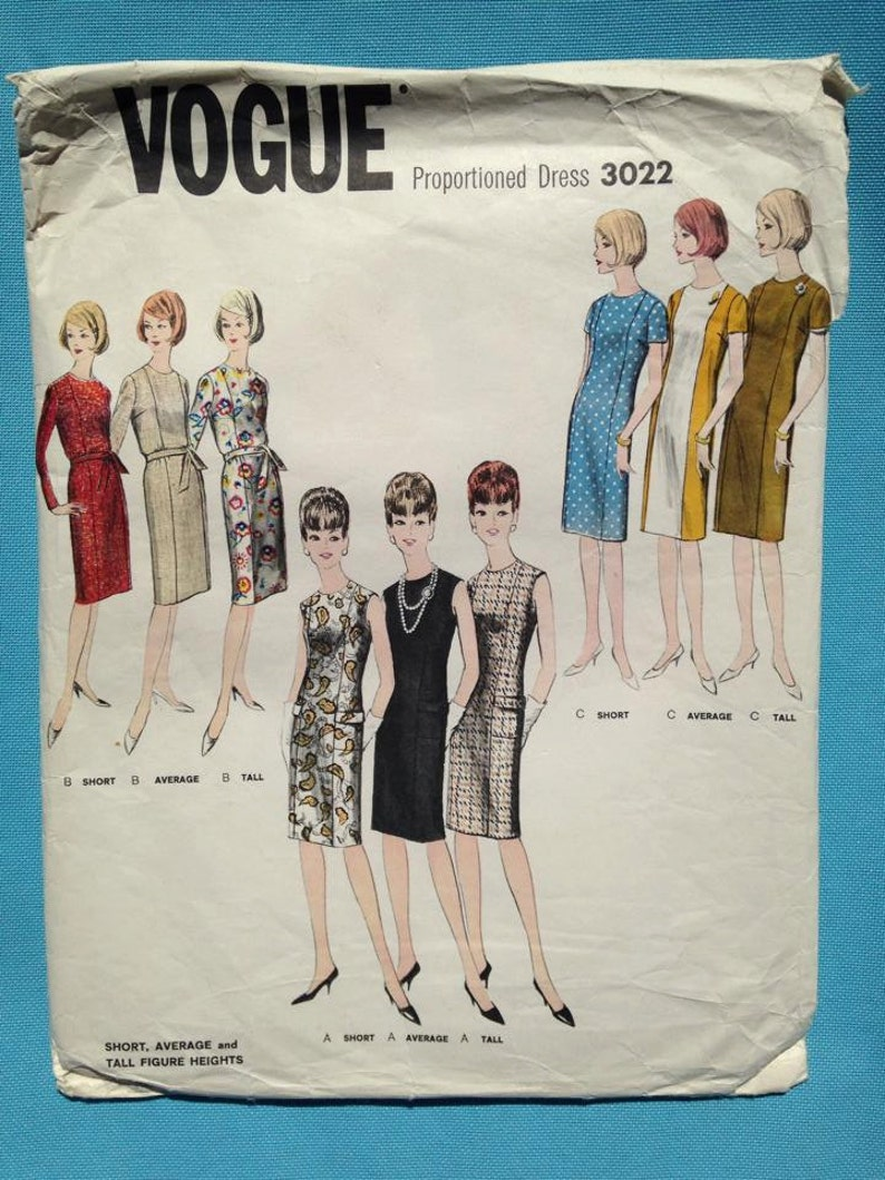Vintage 1960s Vogue sewing pattern for Ladies image 0