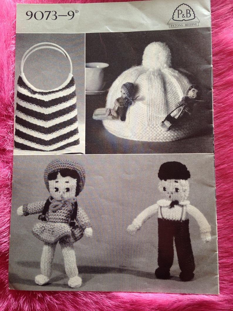 1950s Vintage Knitting Pattern Booklet for Bed Jacket Bag image 0