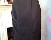 Vintage 1960s Black Nylon Waist Slip, Half Slip, Petticoat. St Michael Lingerie, Under Skirt, Under Wear.