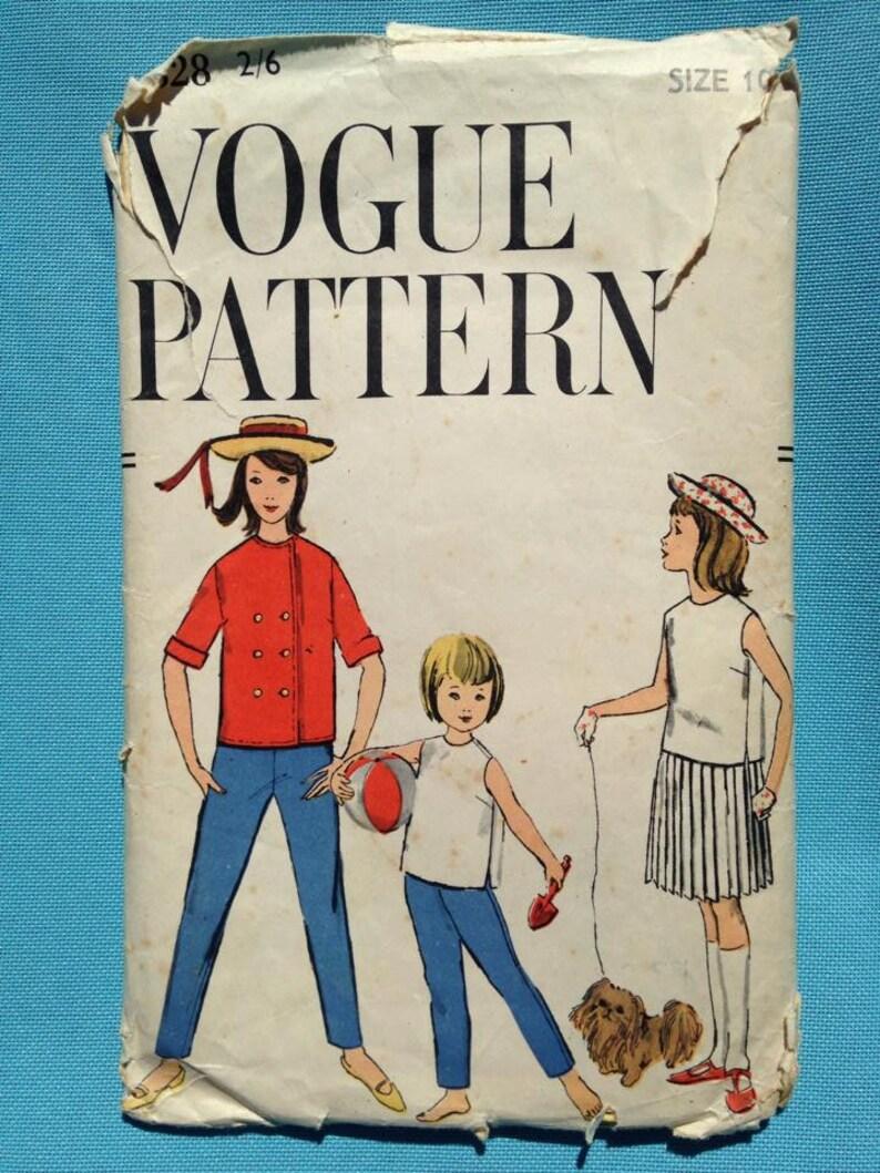 Vintage 1950s Vogue sewing pattern for children's jacket image 0
