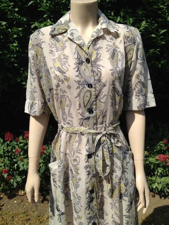Vintage 1950s Seersucker House Dress, Selfridge's… - image 3