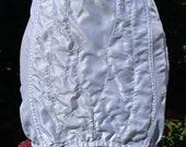Vintage c. 1970s Nymphit White Nylon Girdle. Shapewear, Foundation Wear, Underwear, Lingerie. Suspenders, Pin-Up.