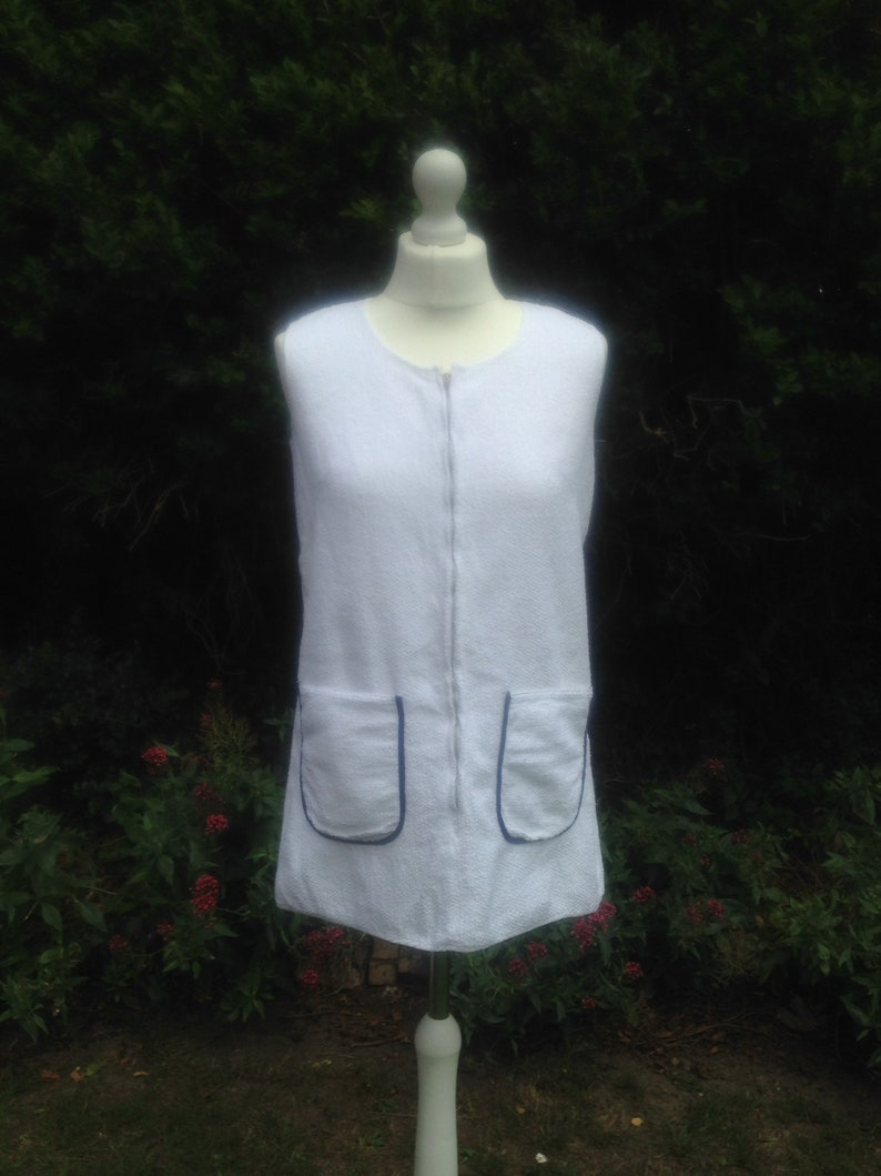 Vintage 1960s Towelling Mini Dress Beach Wear. Pool cover-Up image 0
