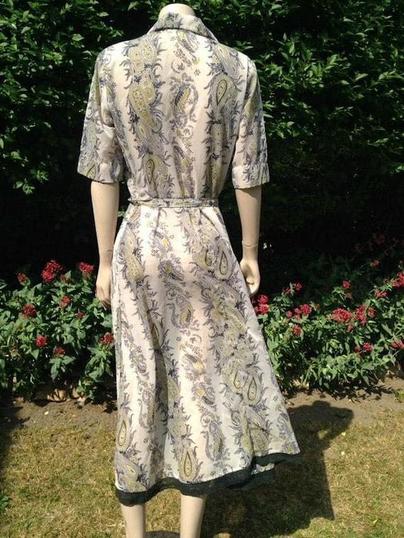 Vintage 1950s Seersucker House Dress, Selfridge's… - image 10