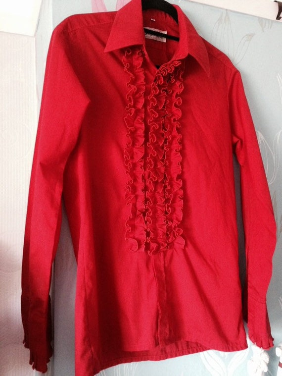 Vintage 1970s Men's Ruffle Shirt from Papillon, Br