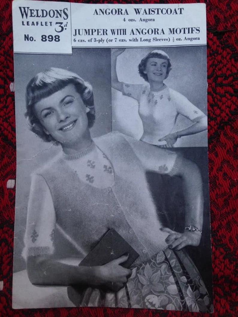 Vintage 1940s 1950s Weldon's Knitting Pattern for image 0