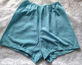 Vintage 1950s,  1960s, Pale Powder BlueFrench Knickers, Tap Pants, Panties. Lingerie, Underwear, Nylon. Something Blue