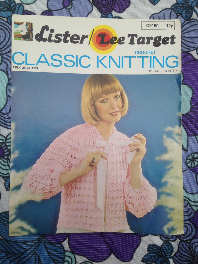 1970s 1980s Vintage Knitting Crochet Pattern from Lister image 0