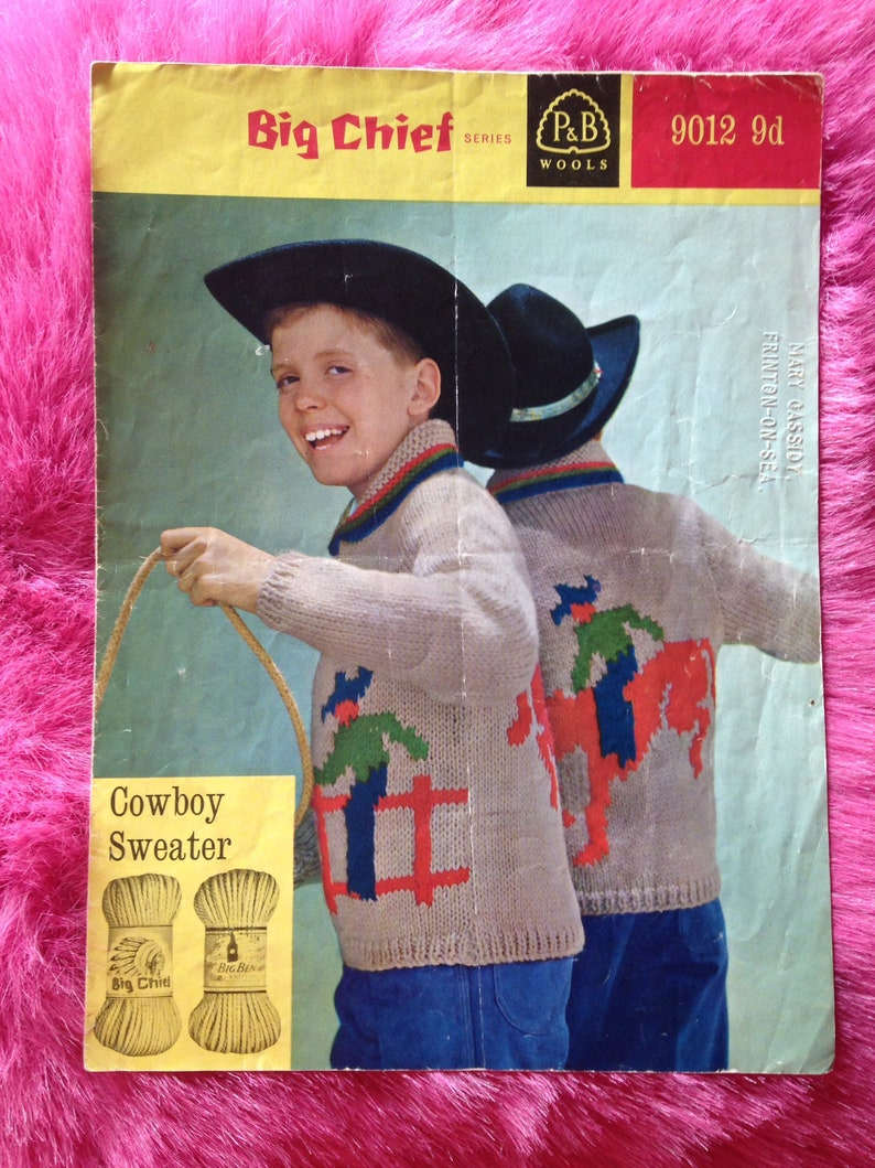 Vintage 1950s 'Big Chief' Knitting Pattern Booklet for image 0
