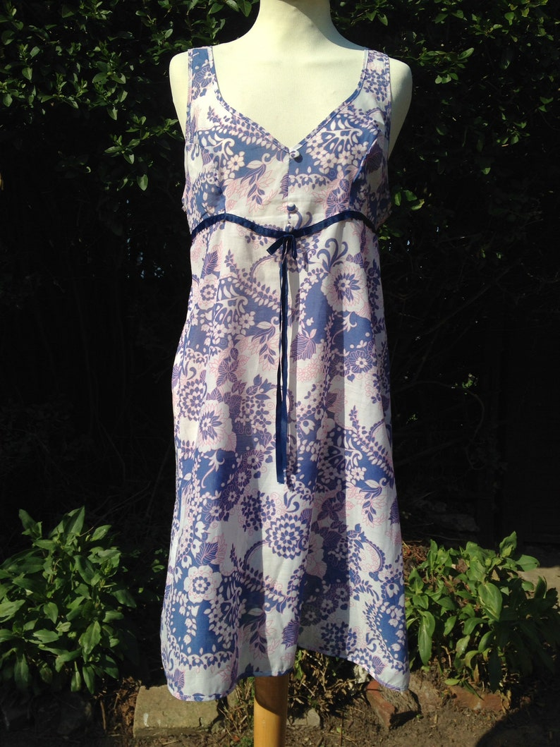 Vintage 1970s nightie night dress baby doll with buttons image 0
