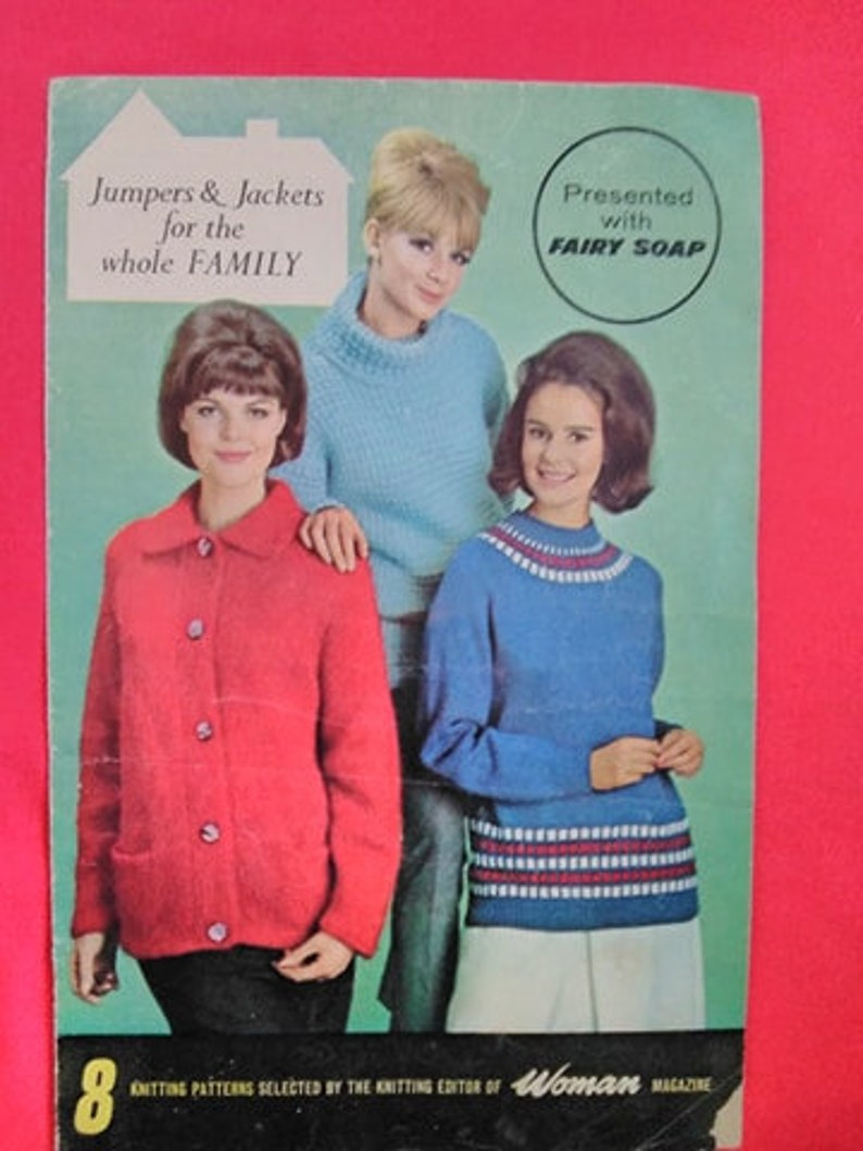 Vintage 1950s Knitting Pattern Booklet Woman Magazines image 0