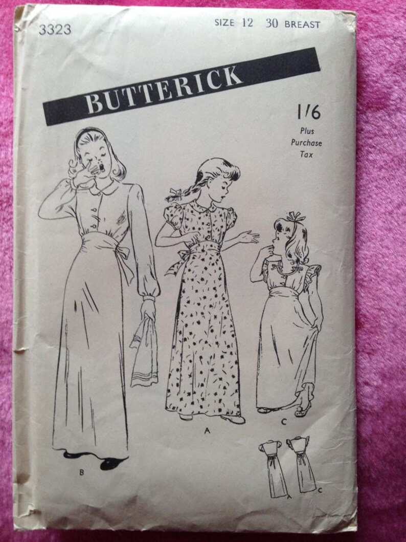 Vintage 1940s 1950s Butterick sewing pattern for girls image 0