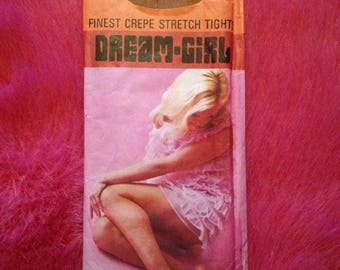 Vintage 1960s, 1970s Dream Girl Crepe Stretch Tights. Nylons, Hosiery, Lingerie, Panty Hose.
