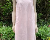 Vintage 1960s, 1970s Pale Pink Terylene St Michael Nightie, Nightgown, Nightwear