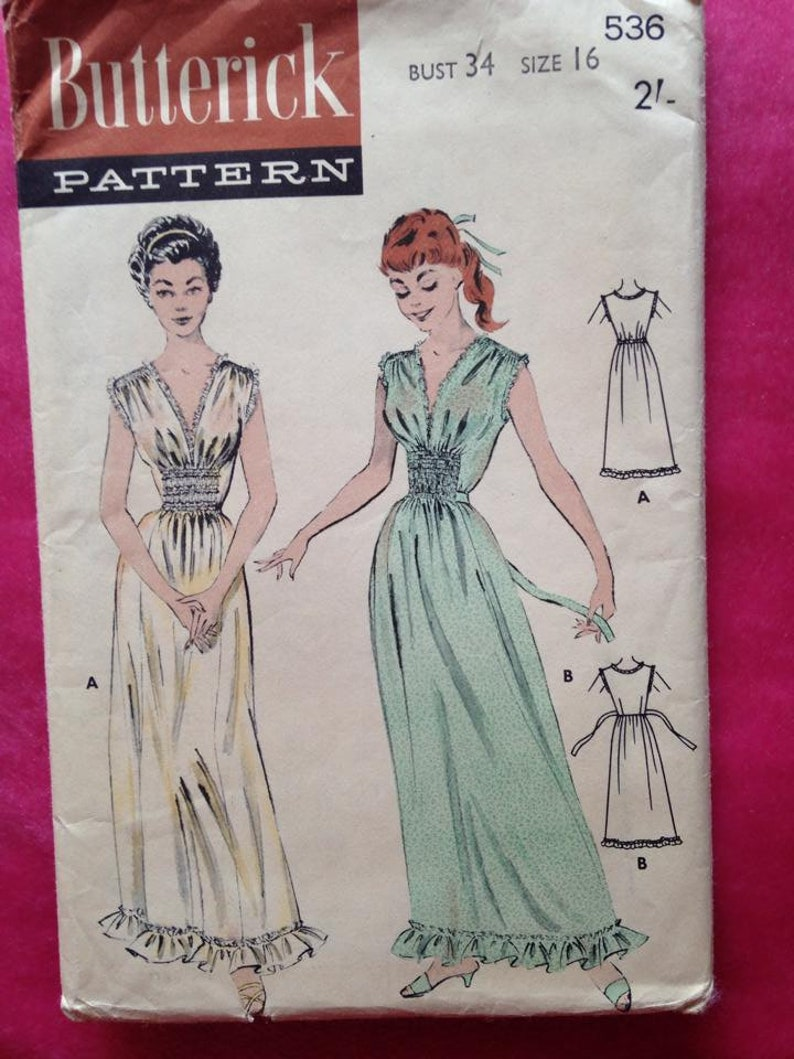 Vintage 1940s 1950s Butterick sewing pattern for ladies image 0