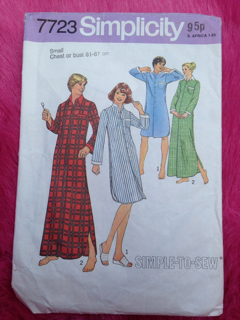 Vintage 1970s 1980s Simplicity Simple-to-Sew paper sewing image 0
