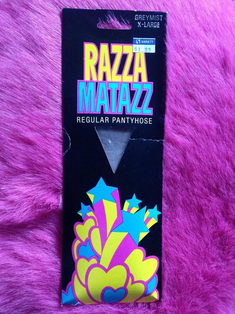 Vintage 1970s 1980s Razza MAtazz Regular Tights Pantyhose. image 0