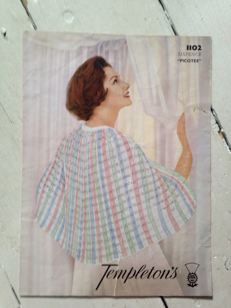 1950s/1960s Vintage Knitting Pattern in 'Picotee' for image 0