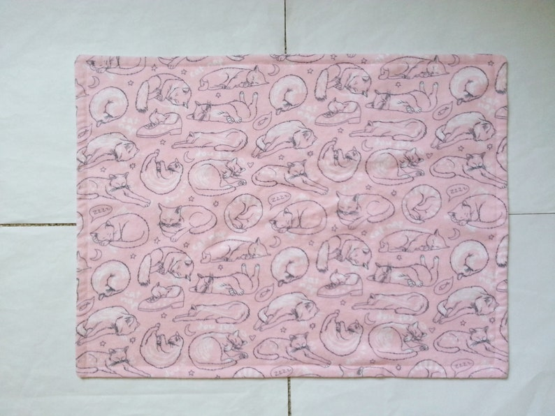 Cat Nap Flannel Toddler Pillowcase Kid Pillowcase Child Pillowcase Travel Pillowcase Girl Pillowcase 13 X 19 and 14 X 20