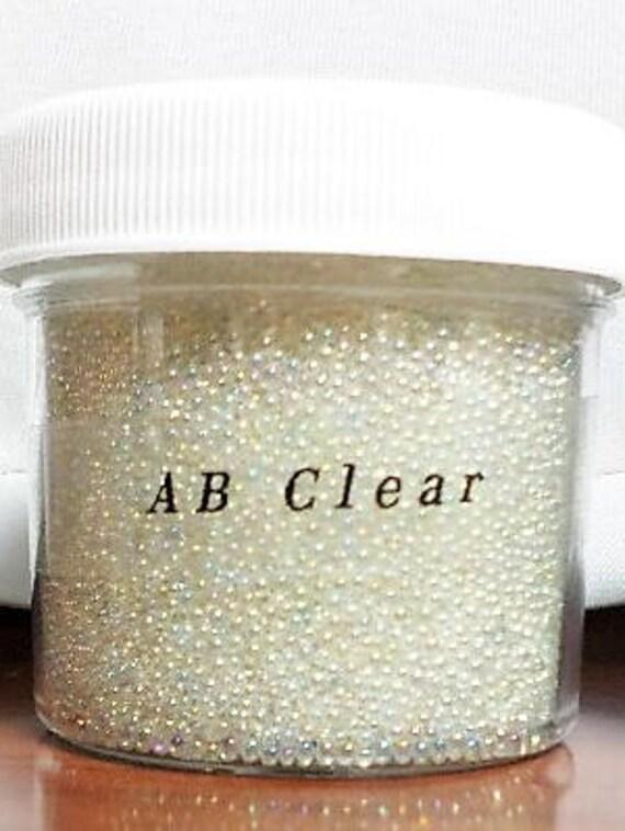 Fairy Bead Resin Nail Art Plum 13g 2-3mm No Hole Transparent Micro