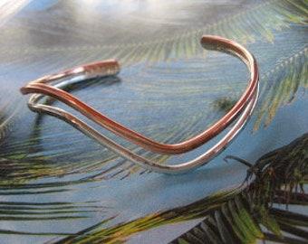 Men/'s 8  Inch Copper Cuff Bracelet CB44BC 1//8 of an inch wide