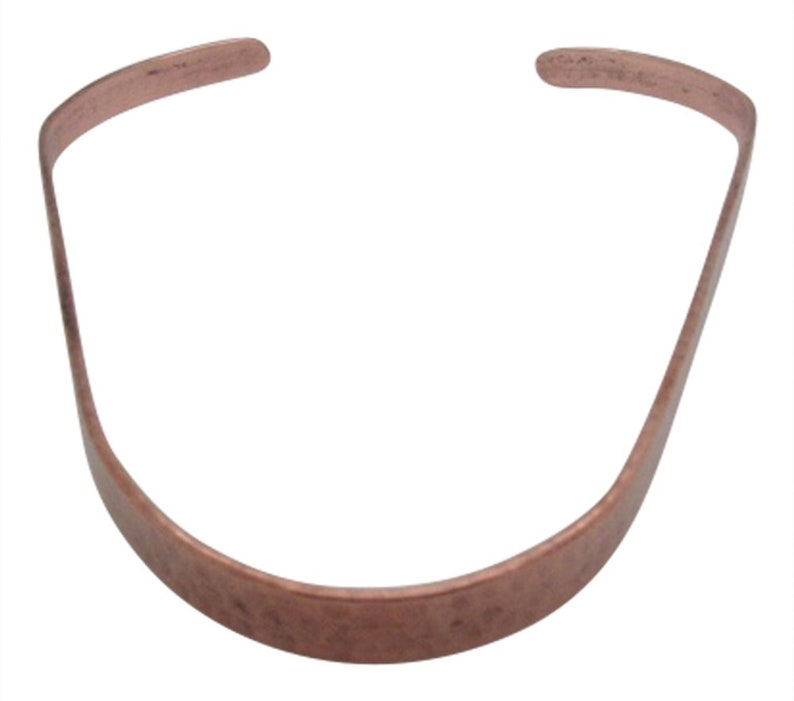 Hammered finish. Solid copper choker #212-14 of an inch wide