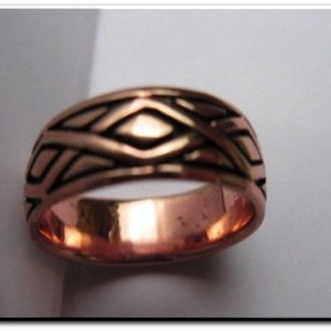 Solid Copper Band Ring CTR796 disponible en tailles 8 To 15-épais et lourd.