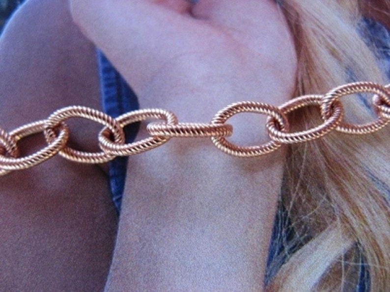 Orders. Free Shipping on All U.S Solid Copper Women/'s Bracelet #CB621G 14 of an inch wide Available in 6 12 to 8 12 inch lengths