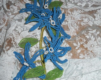Victorian Glass Bead Flowers Circa 1900 to 1909