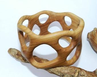 Wooden bracelet, Wooden bangle, ash wood.