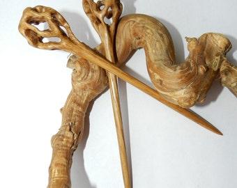 Wooden Hair sticks, Wood hair pin, Hair sticks