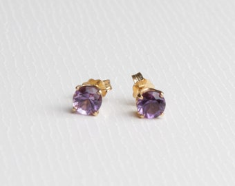 Round Amethyst Earrings (373)