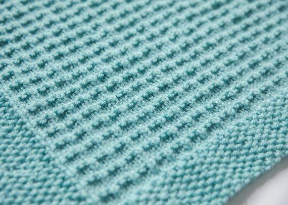 Textured Baby Blanket Knitting Pattern Etsy