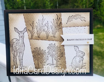 Birthday, masculine, all occasion, Father's Day, nature lover, made in Alaska, Stampin up, birthday, all occasion