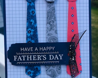 Father's Day, tie, birthday, made in Alaska, stampin up, handmade